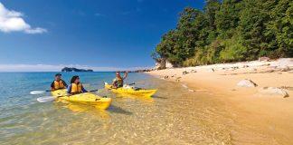 Pracovní prázdniny na Novém Zélandu kayaking